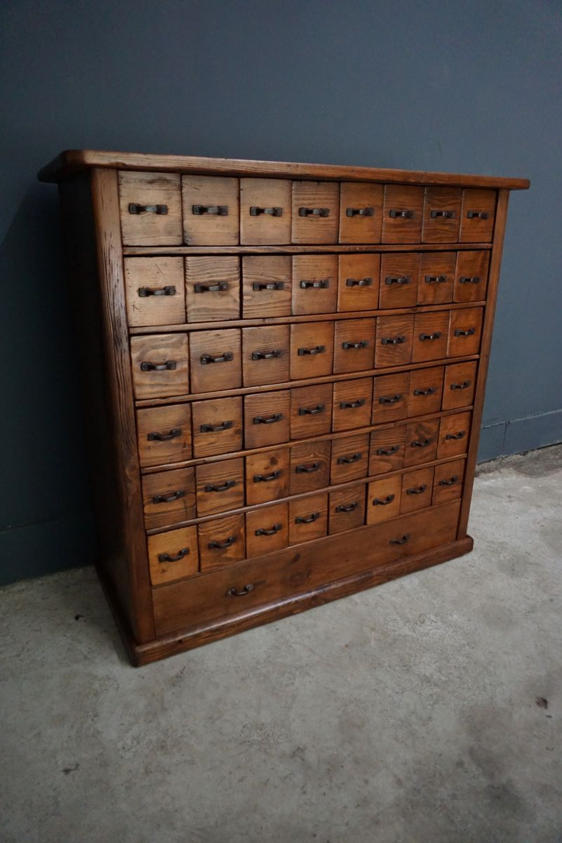 Attractive Vintage French Pine Apothecary Cabinet, 1930s