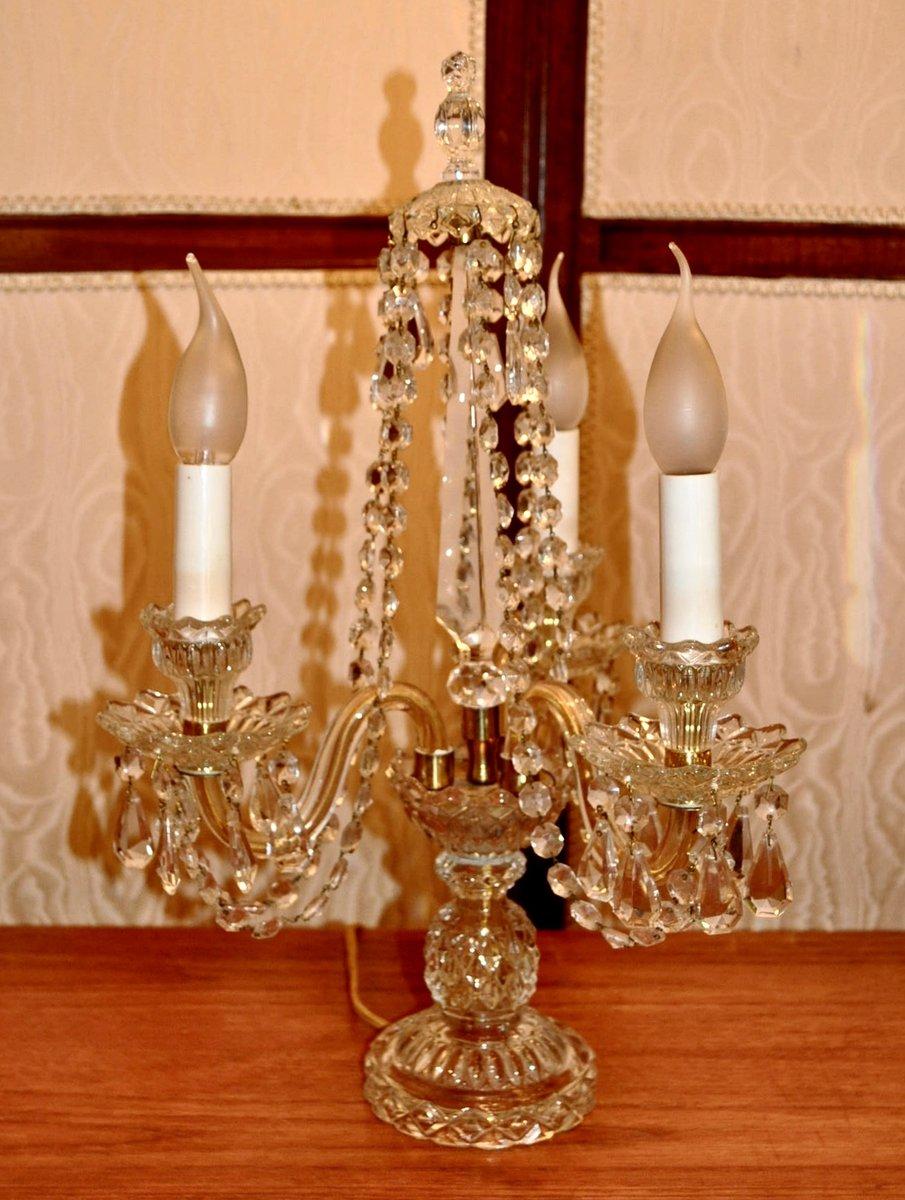 Vintage Kristall Tischlampen, 2er Set