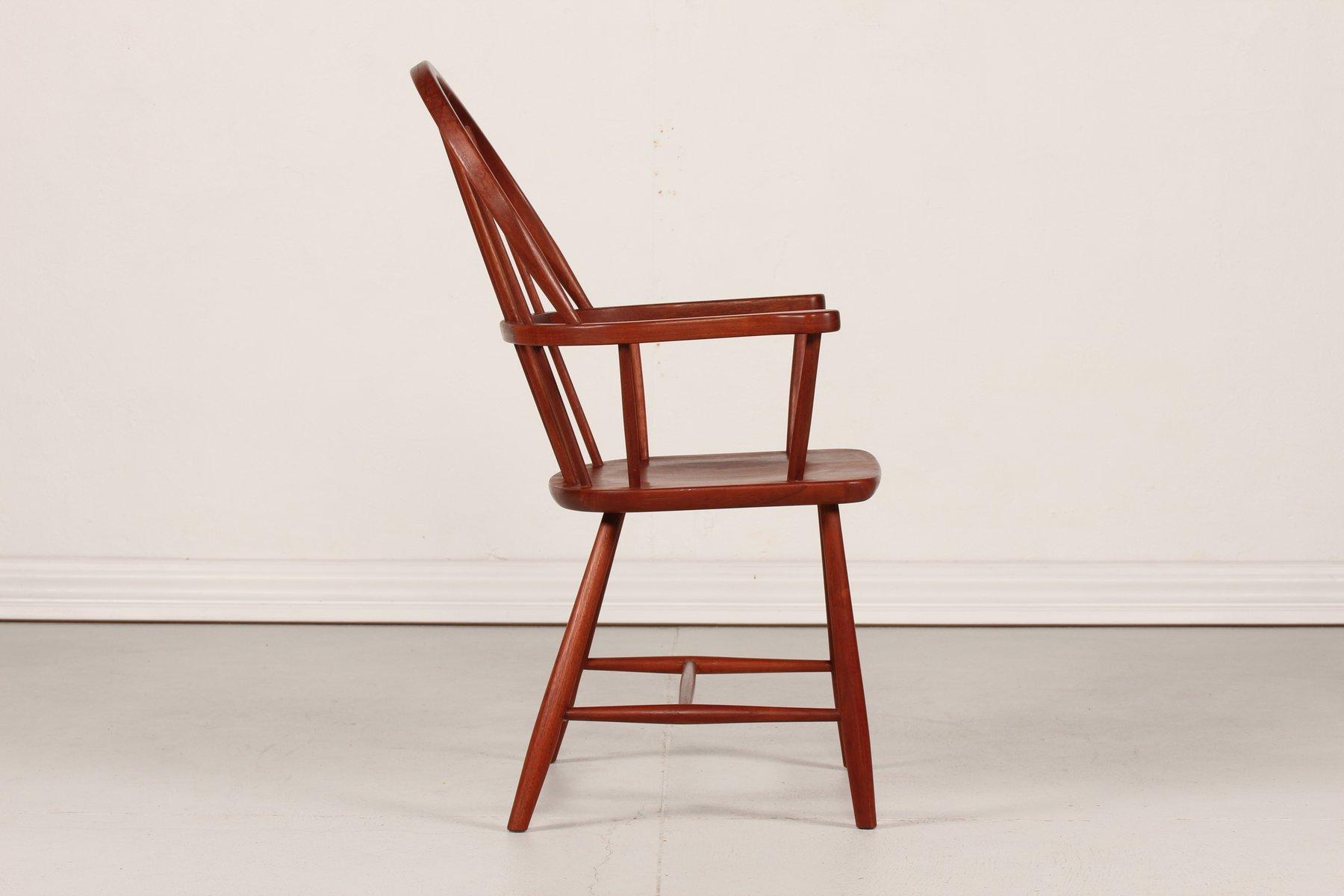 D nischer mid century windsor stuhl aus teakholz bei pamono kaufen - Windsor stuhl ...