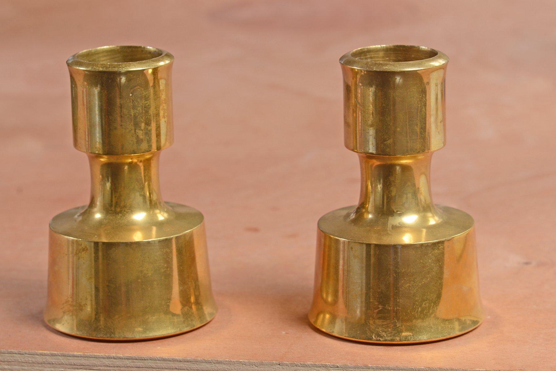 Finnische Vintage Messing Kerzenständer von Jens Quistgaard für Dansk ...