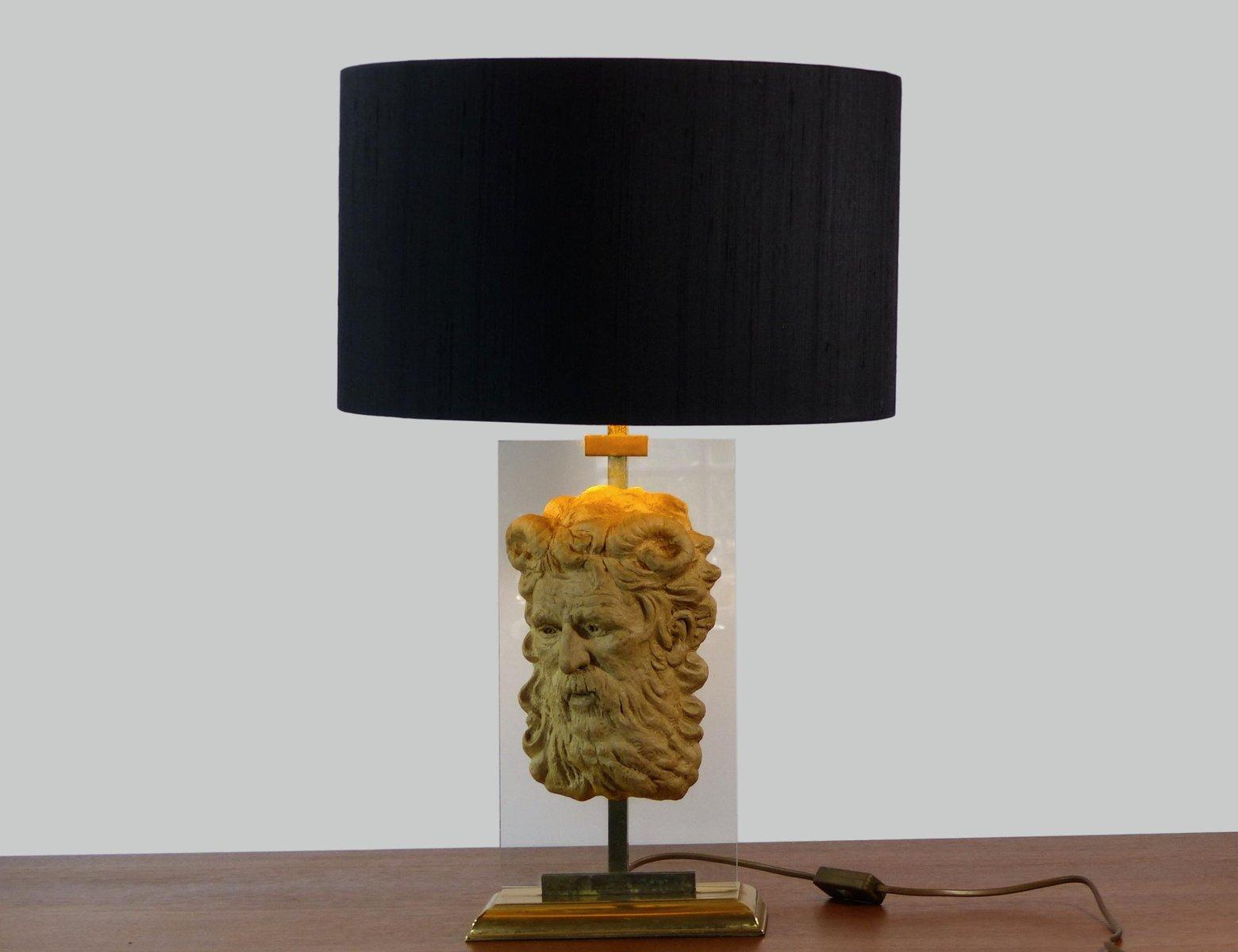 lampe de bureau vintage style n o classique avec masque de faon en vente sur pamono. Black Bedroom Furniture Sets. Home Design Ideas