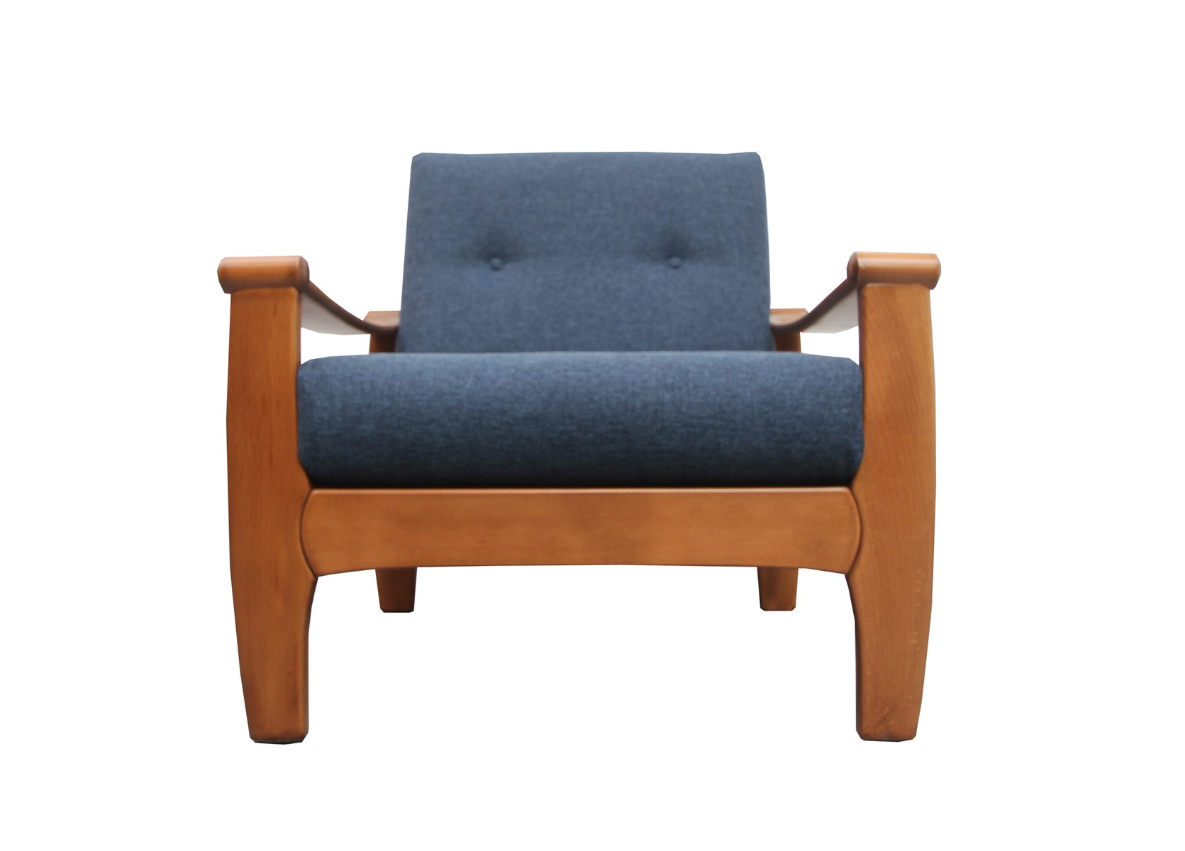 Dark Blue Armchair, 1960s for sale at Pamono