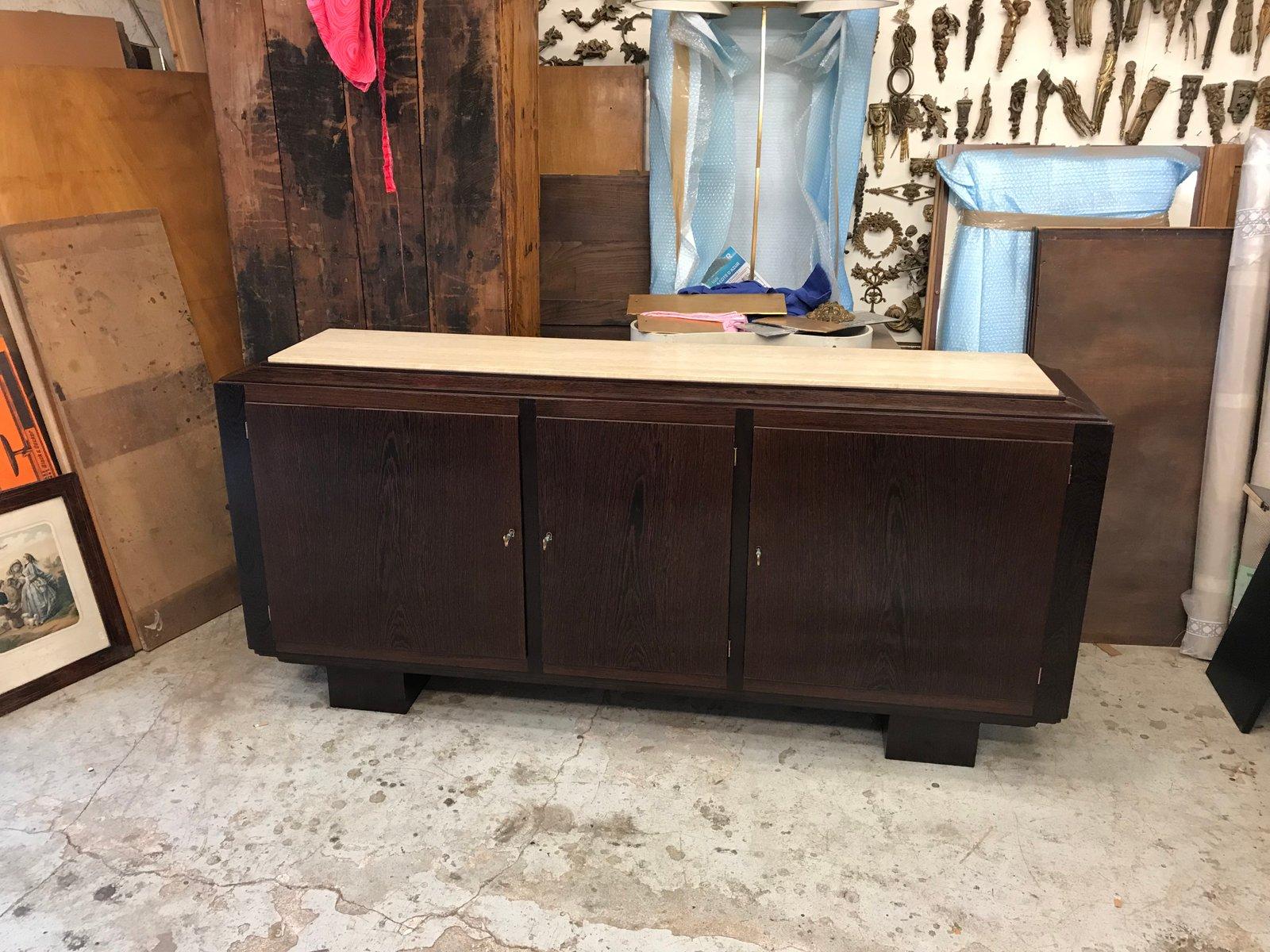 Art Déco Sideboard aus Palmenholz
