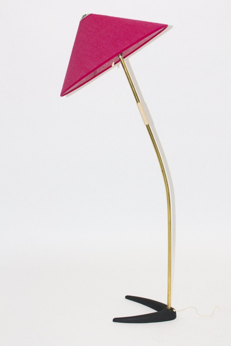 Floor lamp with raspberry colored shade from kalmar 1950s for sale floor lamp with raspberry colored shade from kalmar 1950s aloadofball Choice Image