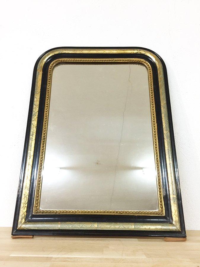 Specchio napoleone iii antico nero e dorato francia in - Specchio dorato antico ...