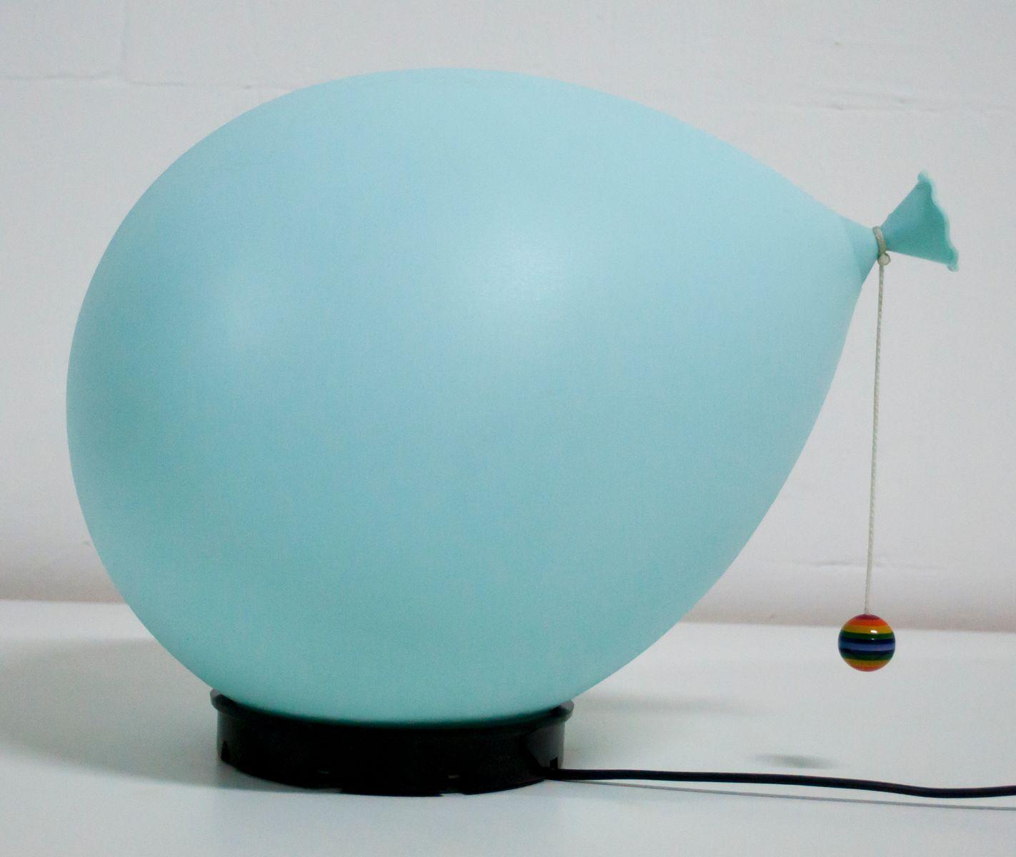 Italienische Blaue Balloon Lampe von Yves Christin für Bilumen, 1970er