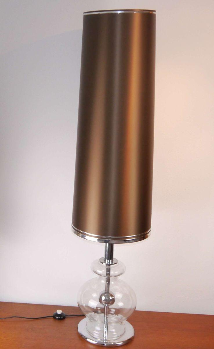 Chrom & Glas Stehlampe von Richard Essig, 1970er