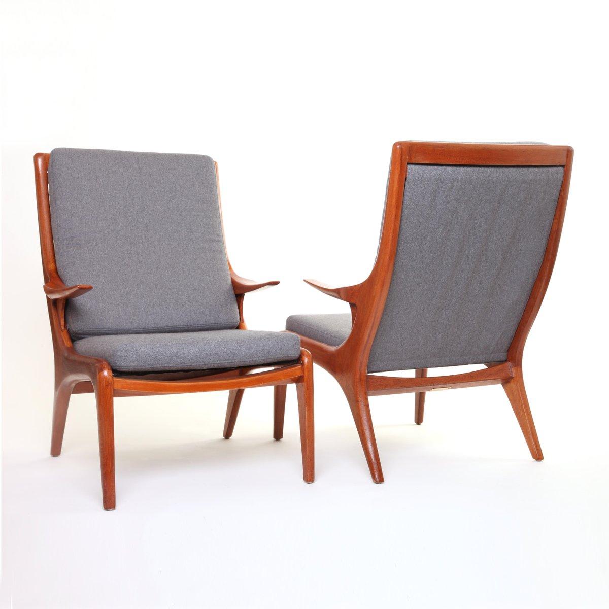 Armchairs By Vladimir Kagan, 1950s, Set Of 2