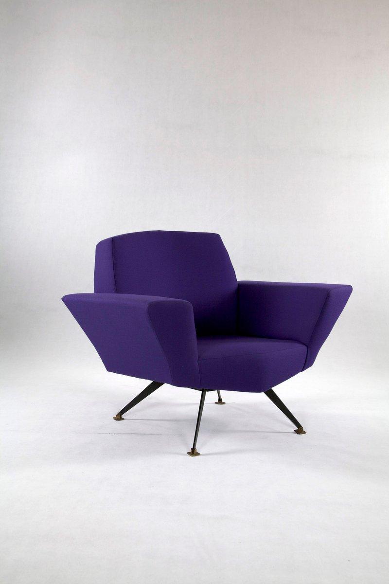 Sessel mit Kvadratbezug von Lenzi, 1950er, 2er Set