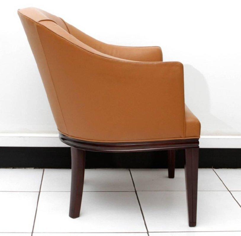 Fauteuil de bureau art d co en acajou par ren joubert philippe petit pour d i m 1930s en - Petit fauteuil de bureau ...