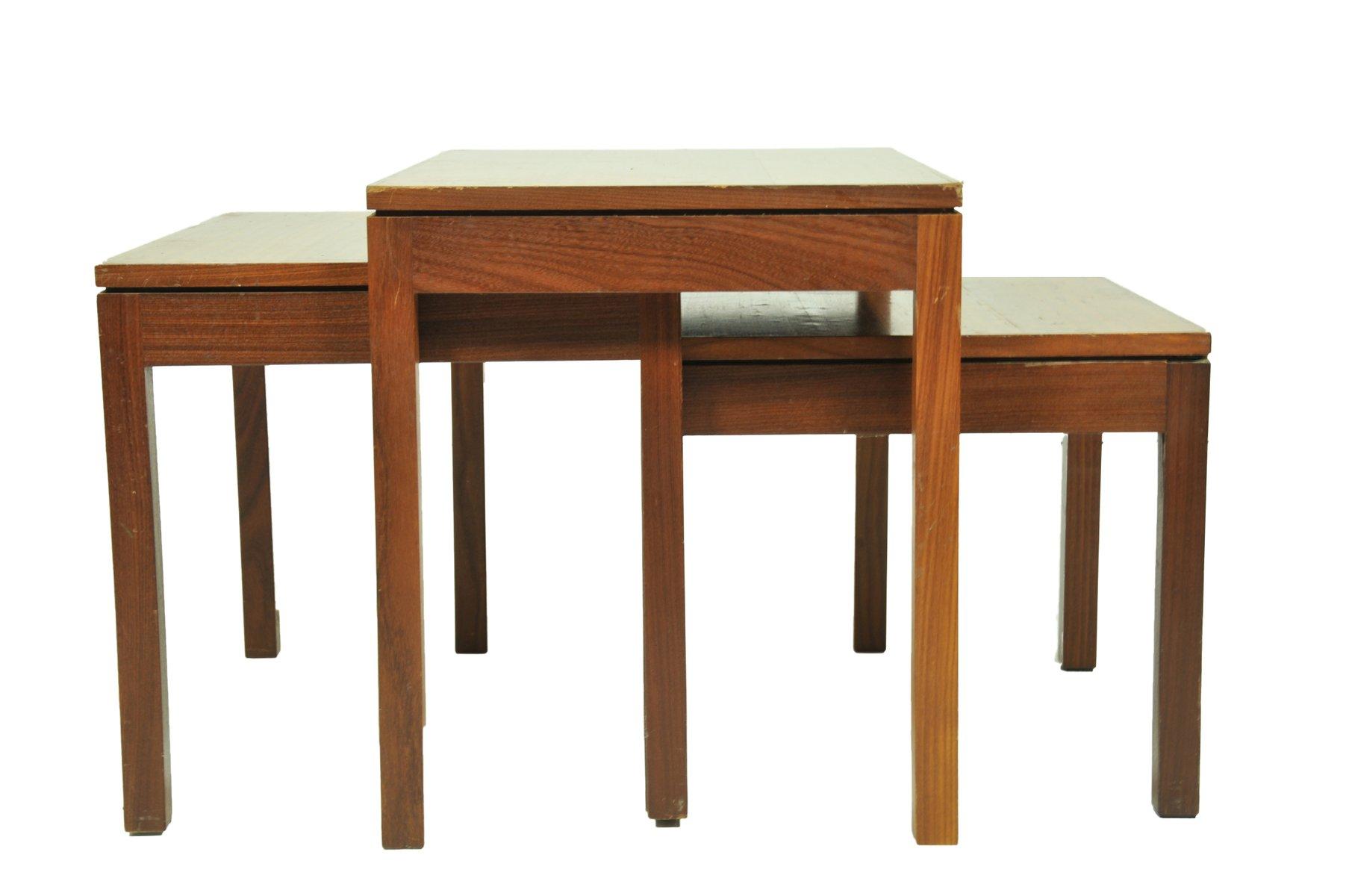Mid Century Teak Nesting Tables 1960s