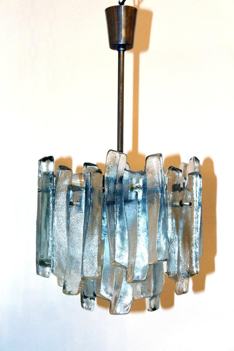 Fuente Glas Hängelampe von Kalmar, 1960er