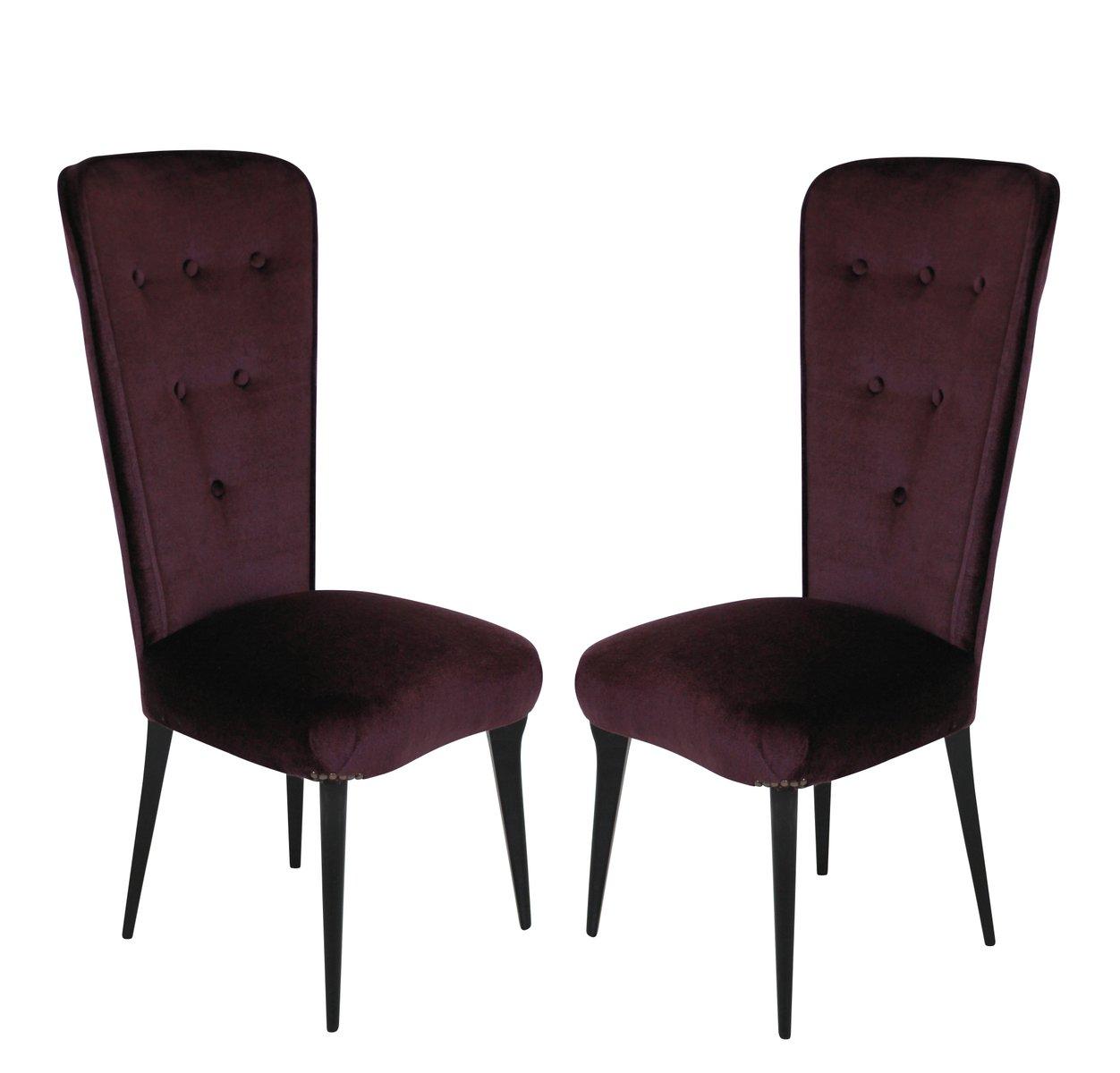 chaises pour chambre coucher mid century italie 1950s set de 2 en vente sur pamono. Black Bedroom Furniture Sets. Home Design Ideas