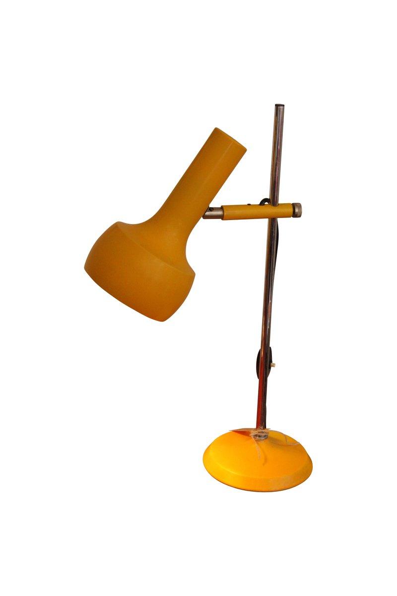 Gelbe Vintage Tischlampe