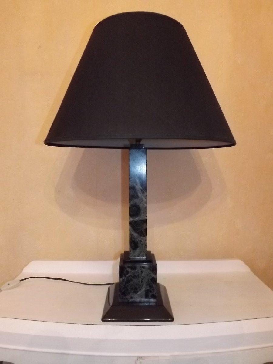 Vintage Schreibtischlampe aus Marmor in Grün & Schwarz, 1970er