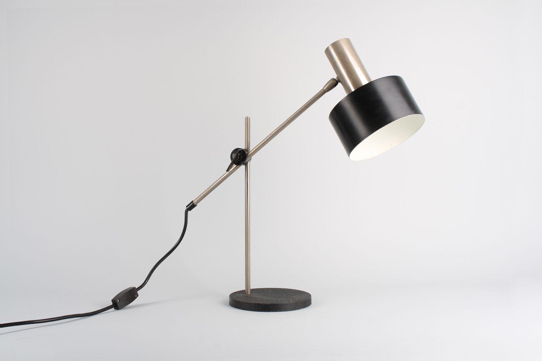 Schwarze Tischlampe, 1960er