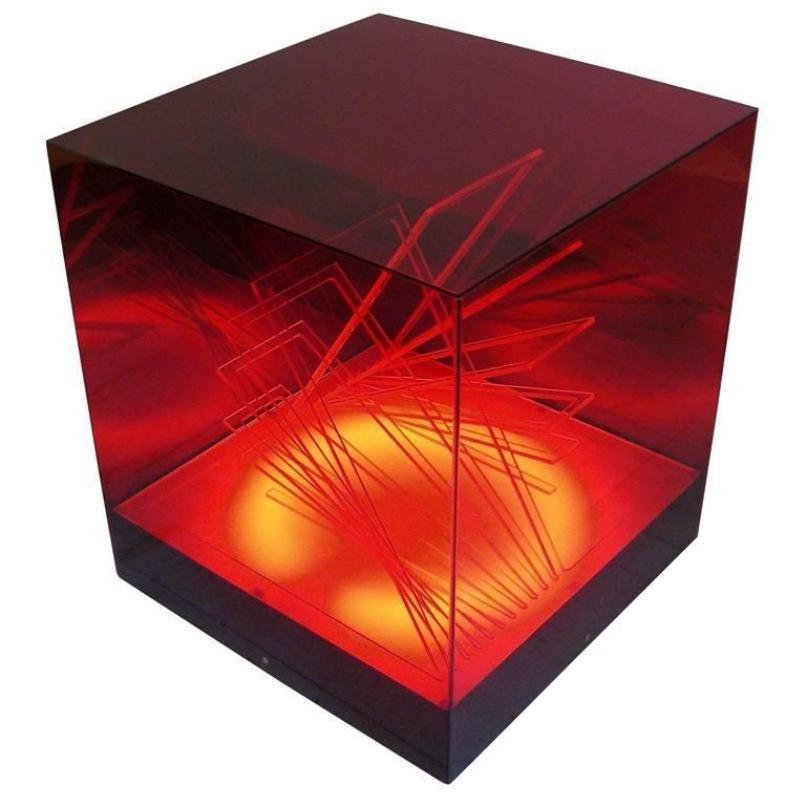 Cubo di Teo Tischlampe von James Rivière, 1970er