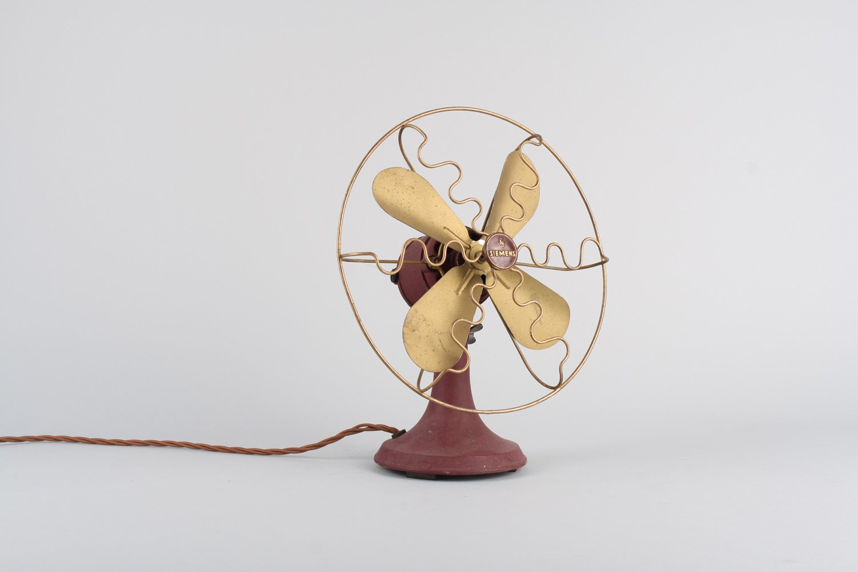 Vintage Ventilator von Siemens & Schuckert | Baumarkt > Heizung und Klima | Rot | Metall | Siemens