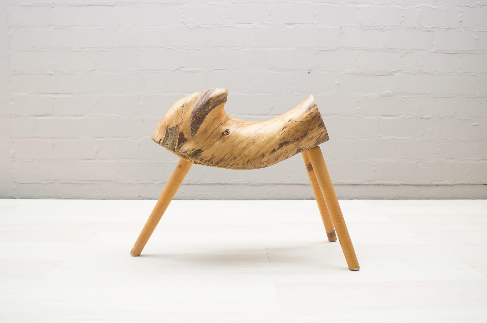 Sgabello mid century di legno austria anni in vendita su pamono
