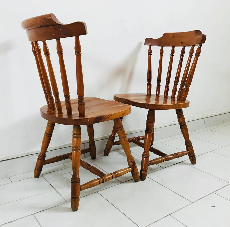 Rustic Kitchen Chairs, 1930s, Set Of 4 For Sale At Pamono