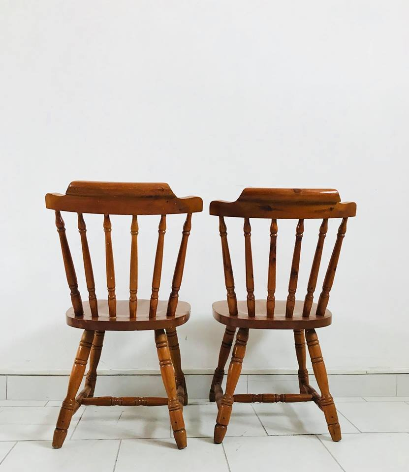 Set Of 4 Kitchen Chairs: Rustic Kitchen Chairs, 1930s, Set Of 4 For Sale At Pamono