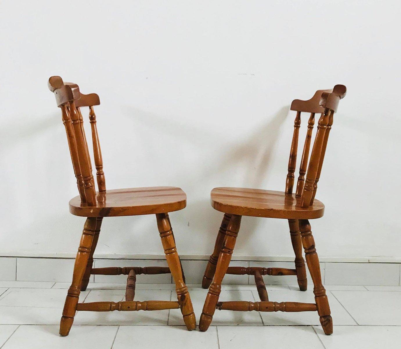 Sedie da cucina, anni \'30, set di 4 in vendita su Pamono