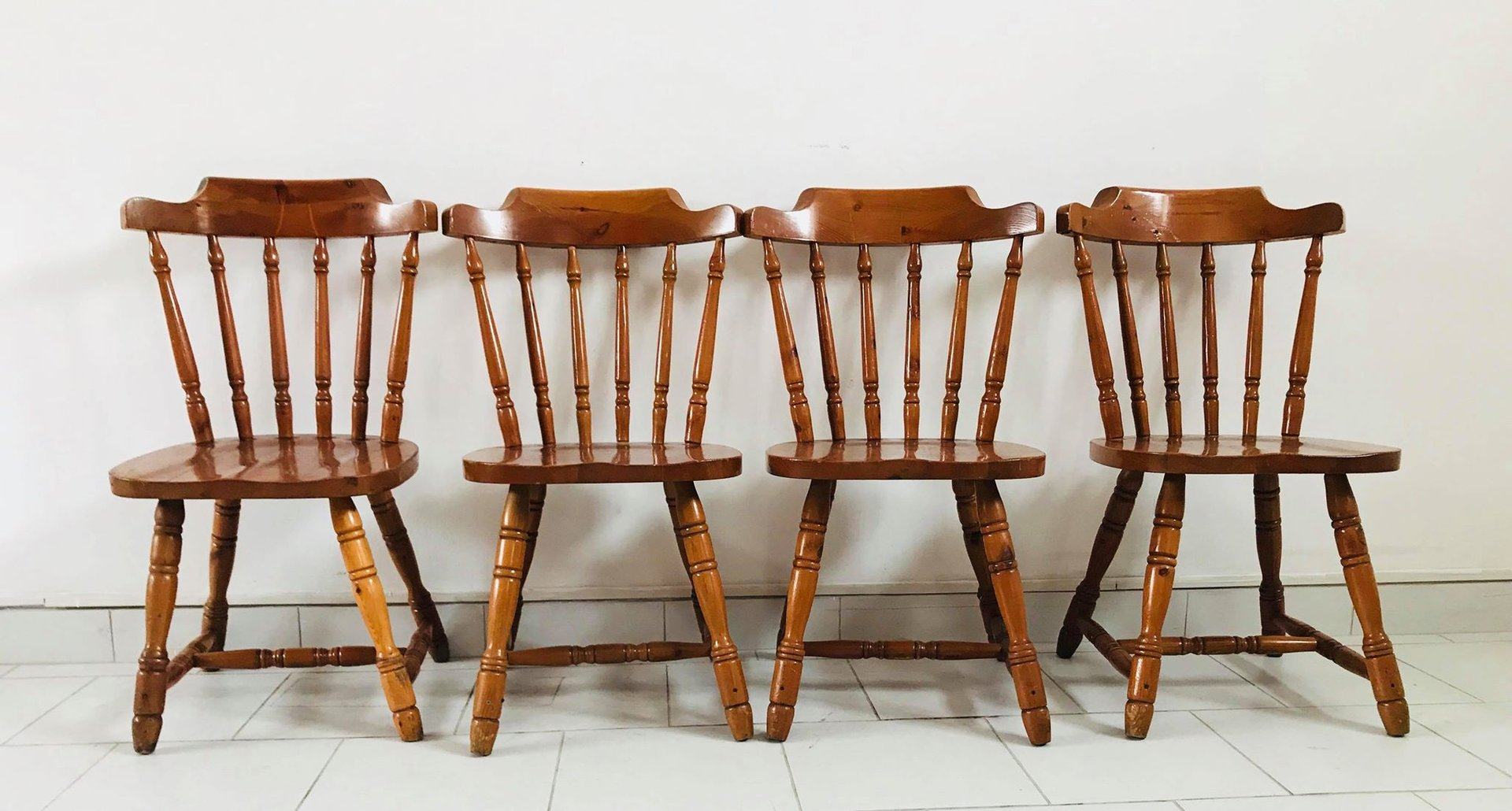 rustic kitchen chairs 1930s set of 4 for sale at pamono. Black Bedroom Furniture Sets. Home Design Ideas