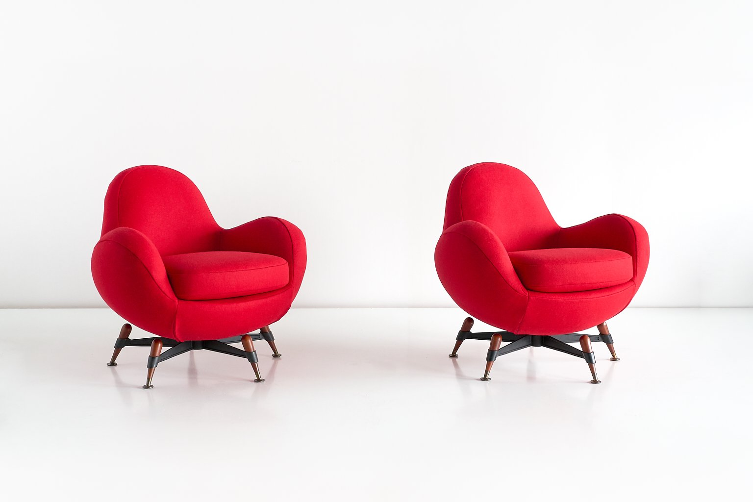 Vintage Mercury Sessel von Rito Valla für IPE Bologna, 2er Set