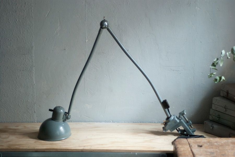 Grande lampe de bureau articul e 6726 vintage de kaiser idell 1930s en vente sur pamono for Lampe de bureau articulee