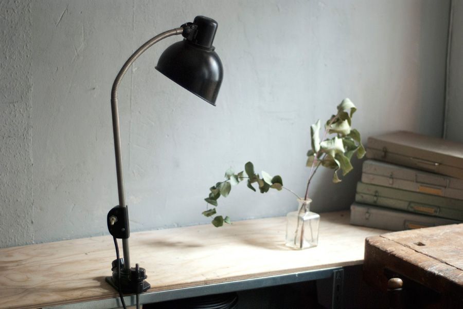lampe de bureau pince vintage noire de helion en vente sur pamono. Black Bedroom Furniture Sets. Home Design Ideas