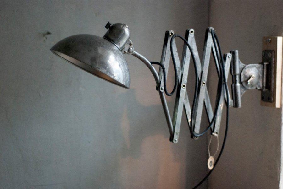 Vintage 6614 Scheren Moon Lamp von Kaiser Idell, 1930er