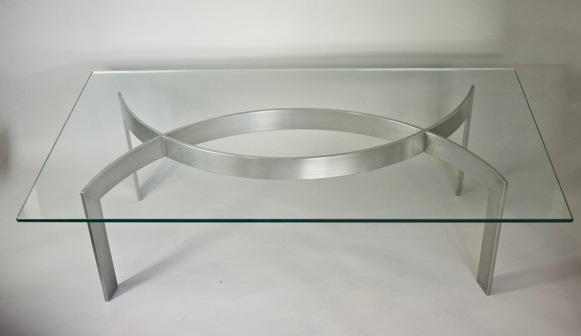 couchtisch aus geb rstetem metall glas von paul legeard 1970er bei pamono kaufen. Black Bedroom Furniture Sets. Home Design Ideas