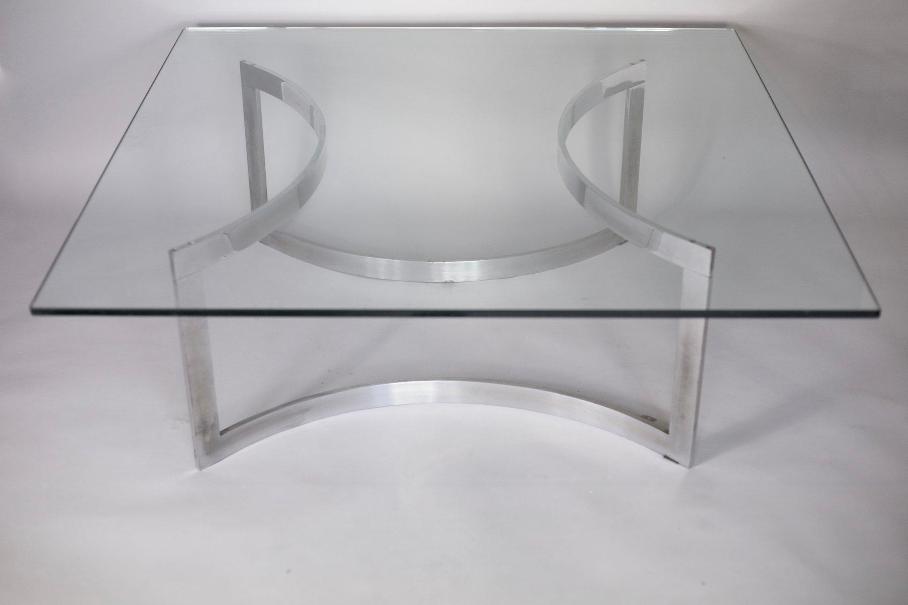Tavolini In Vetro E Acciaio : Tavolino da caffè in acciaio cromato e vetro di dassas in