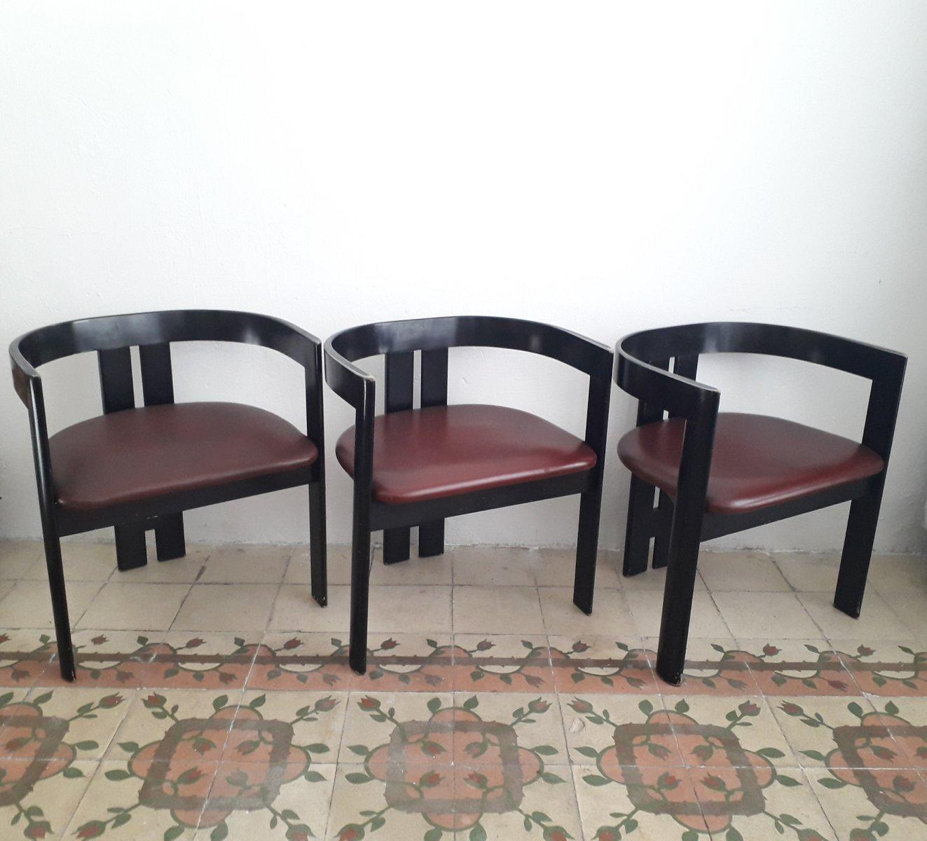 pigreco st hle von tobia scarpa f r myc 1950er 3er set bei pamono kaufen. Black Bedroom Furniture Sets. Home Design Ideas