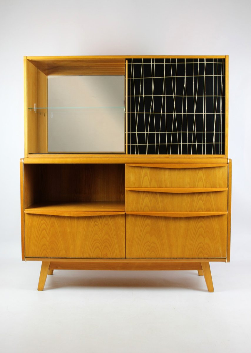 Vintage Bar Cabinet by Bohumil Landsman for Jitona, 1960s - Vintage Bar Cabinet By Bohumil Landsman For Jitona, 1960s For Sale
