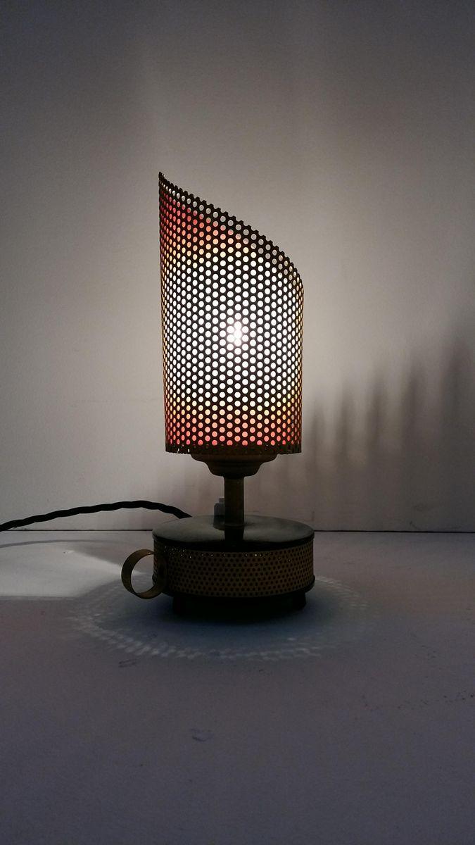 Aluminium Tischlampe von Télé Ambiance, 1950er