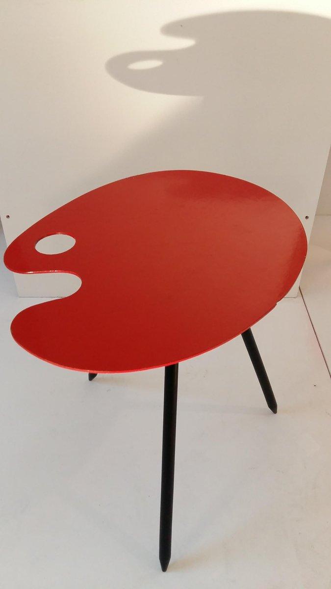 Vintage Pallet Side Table By Lucien De Roeck For Bois Manu For Sale