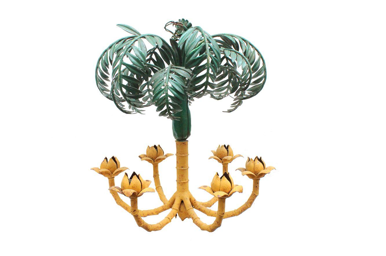 Französischer Palmen Kronleuchter, 1930er