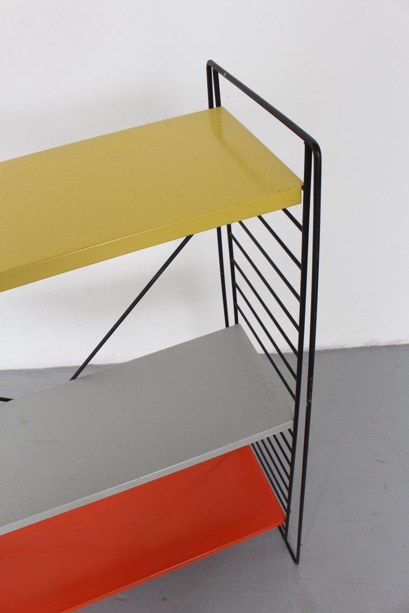 vintage metall regal system von a dekker f r tomado. Black Bedroom Furniture Sets. Home Design Ideas
