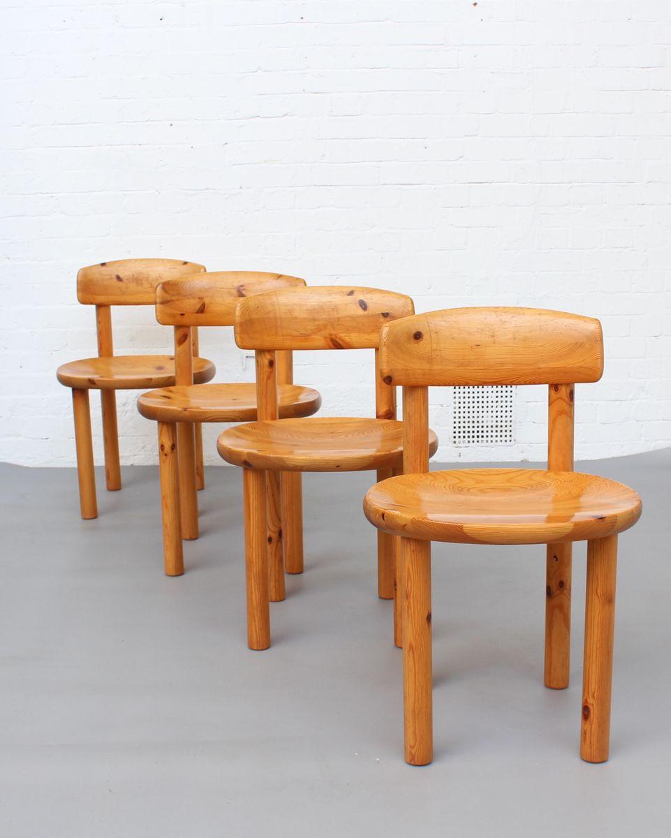 d nische vintage esszimmer st hle aus kiefer von rainer daumiller f r hirtshals sawmill 1970er. Black Bedroom Furniture Sets. Home Design Ideas
