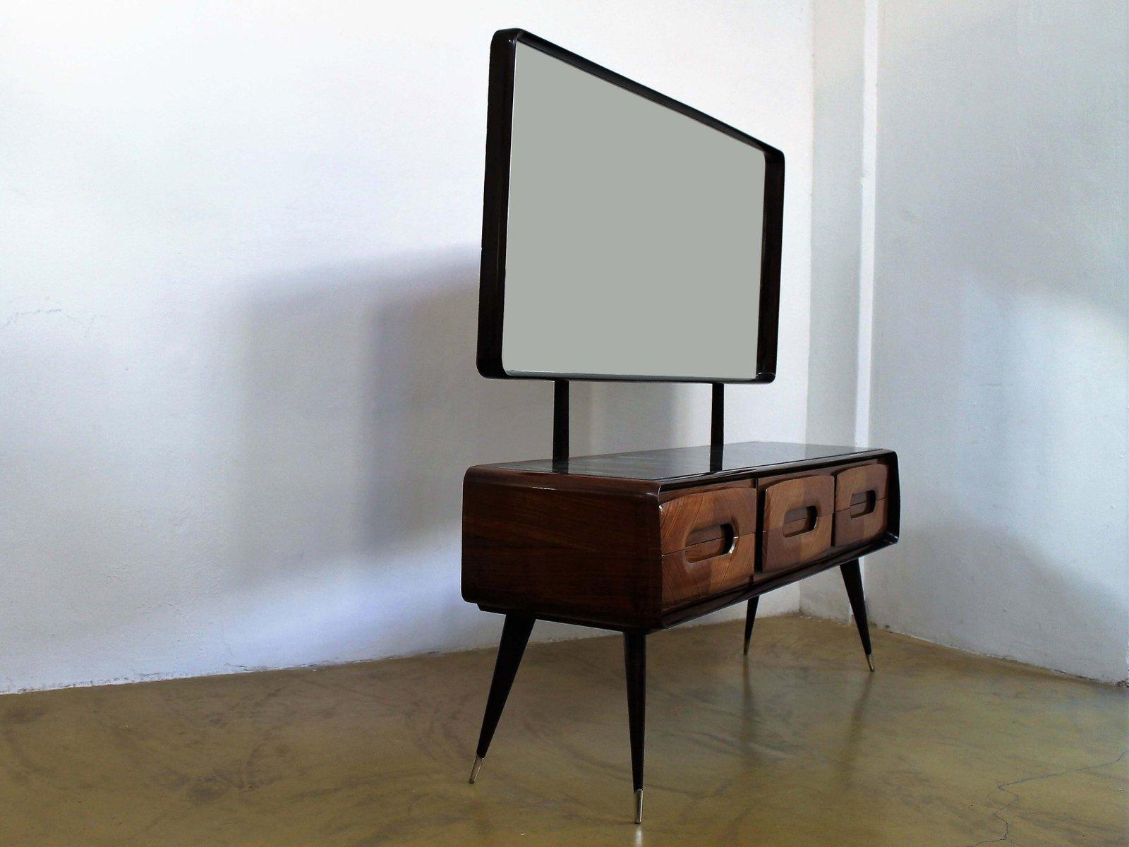 Credenza Moderna Con Espejo : Cajonera italiana mid century de palisandro con espejo vittorio