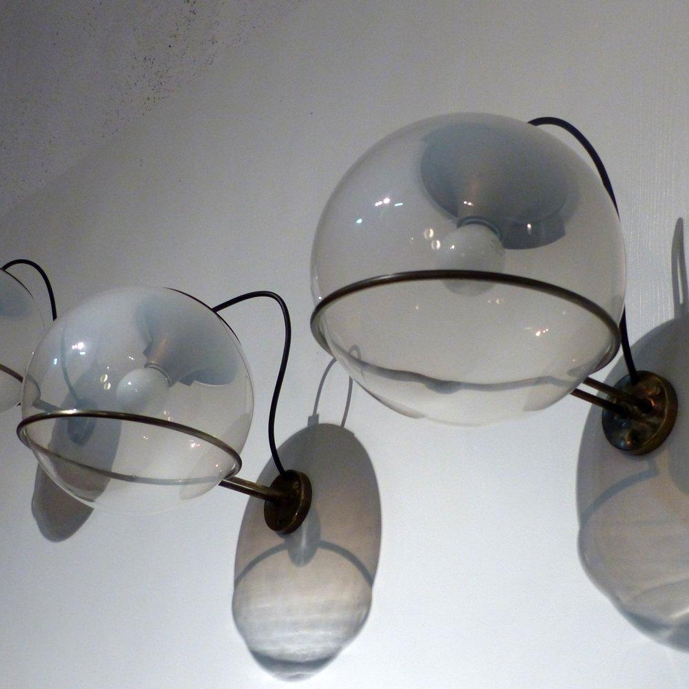 Mid-Century Wandlampen von Gino Sarfatti für Arteluce, 2er Set