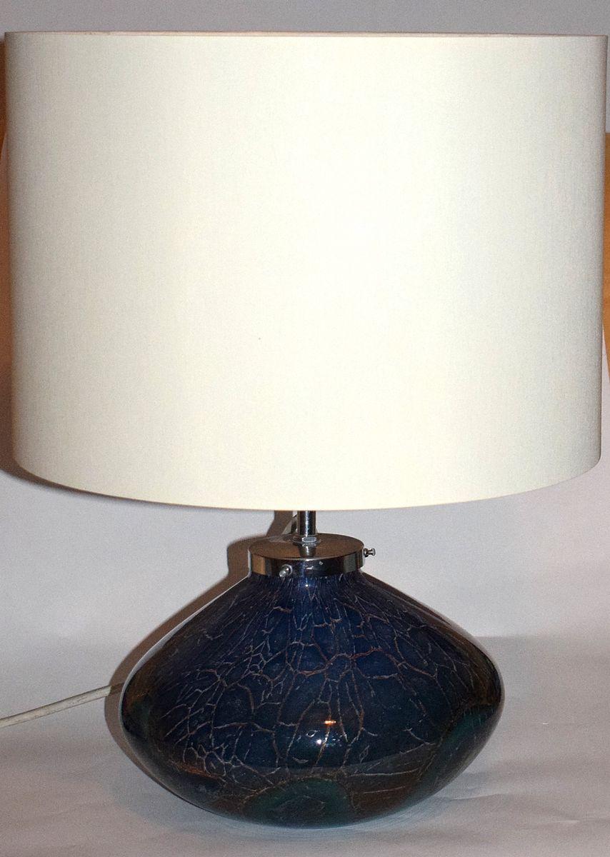 Ikora Tischlampe aus Blauem & Grünem Glas von Wiedmann für WMF, 1930er