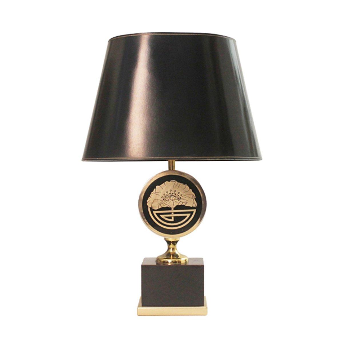 Französische Messing Lampe von Maison Jansen, 1970er