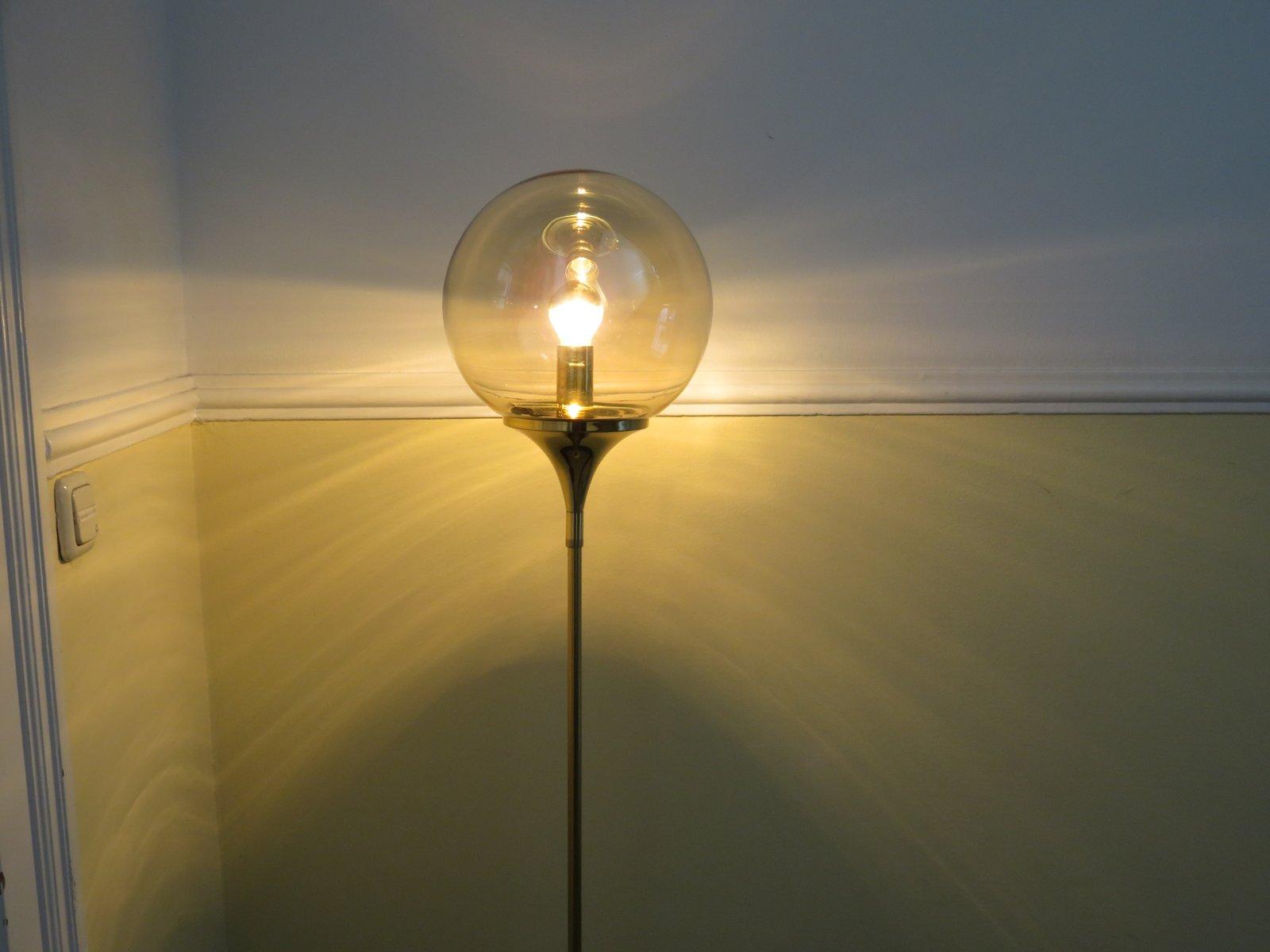 Floor Lamp with Trumpet Foot in Brass from Doria Leuchten, 1960s for ...