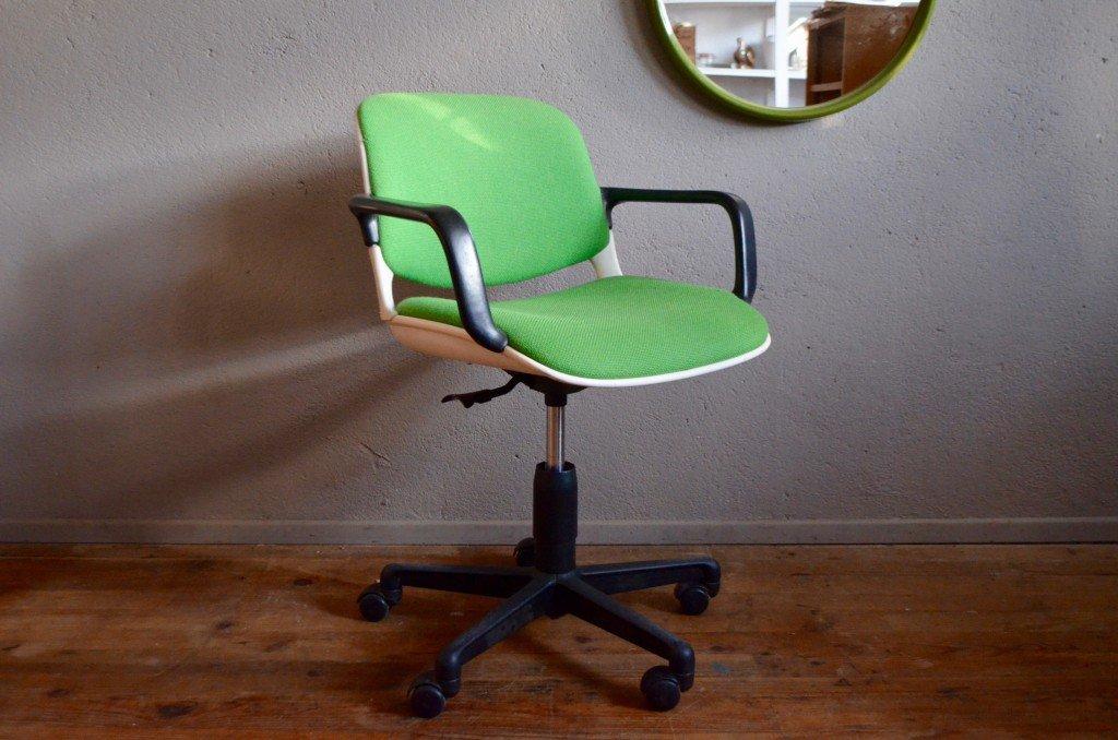 Sedia da ufficio comforto di mobilier international anni for Sedia ufficio vintage