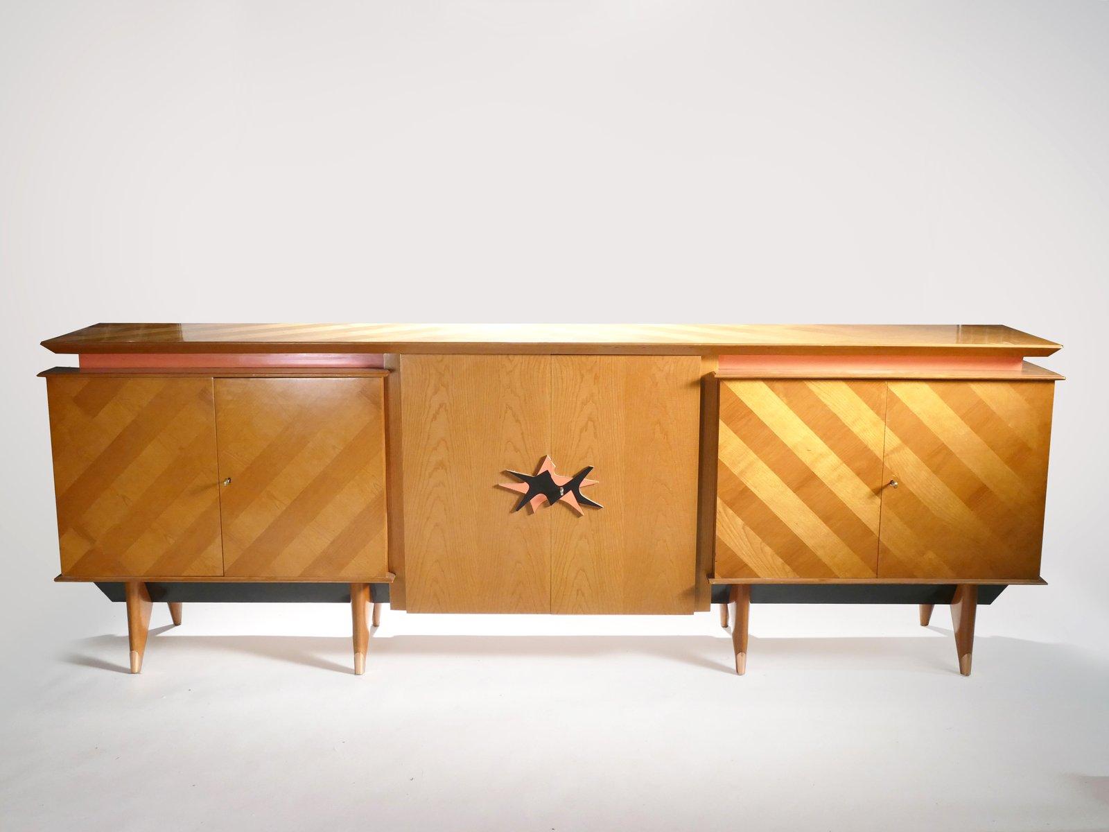 Großes Modernes Sideboard in Kirsche, 1950er