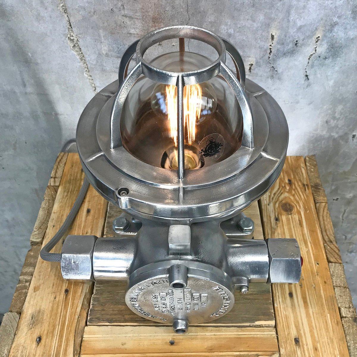 Japanische Industrielle Feuerfeste Schreibtischlampe von Kokosha, 1998