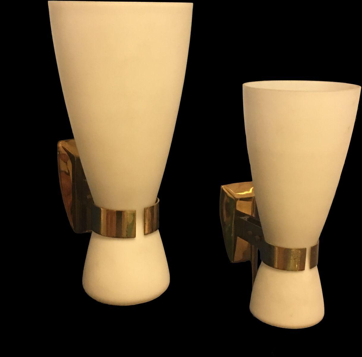 Vintage 2118 Wandlampen von Bruno Gatta für Stilnovo, 2er Set