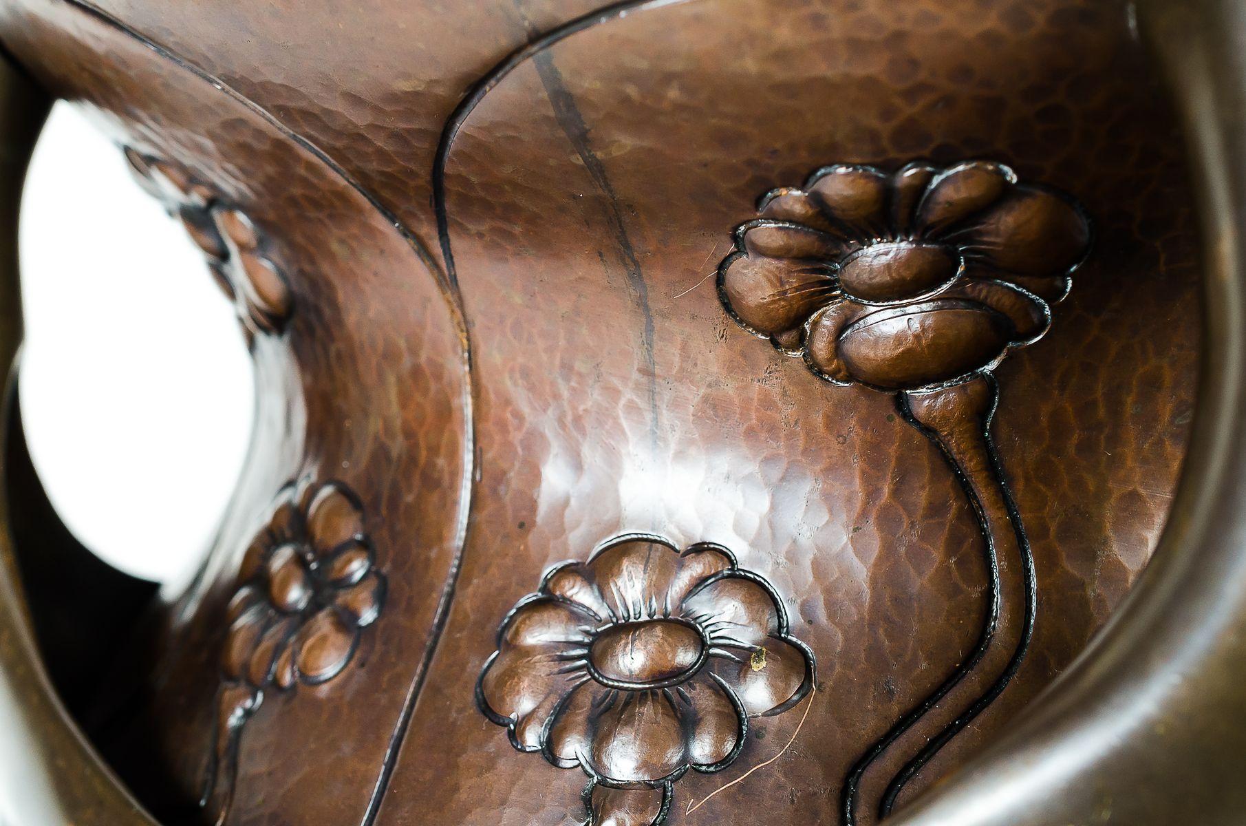 grand pot pour plantes en cuivre et laiton 1906 en vente sur pamono. Black Bedroom Furniture Sets. Home Design Ideas